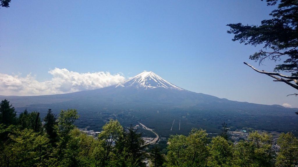 Mt Fuji from the Tenjozan Observation Point at Lake Kawaguchiko
