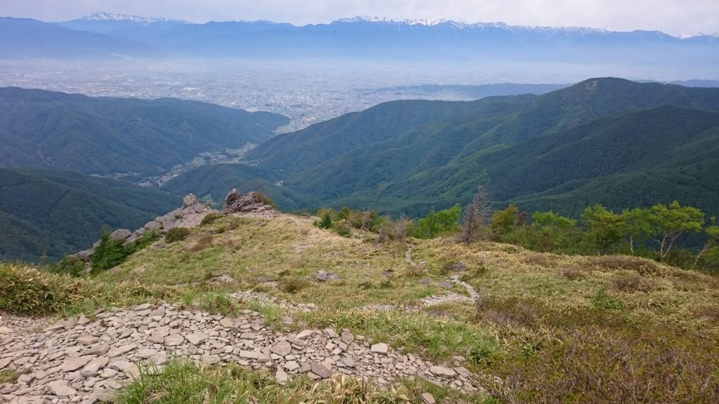 They really are massive cliffs down to the city of Matsumoto below.