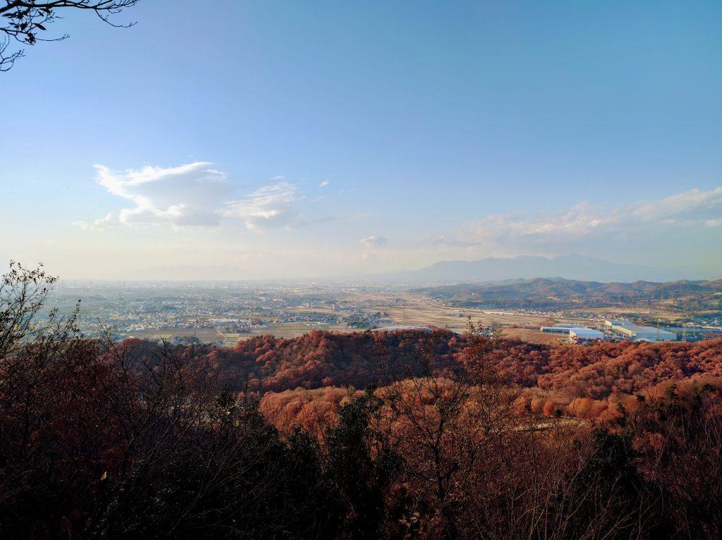Mt Akagi from the top of Mt Kanayama in Ota
