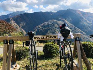Cycle Stand in Shimoguri no Sato town.