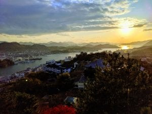 Sunset across the Onomichi strait.