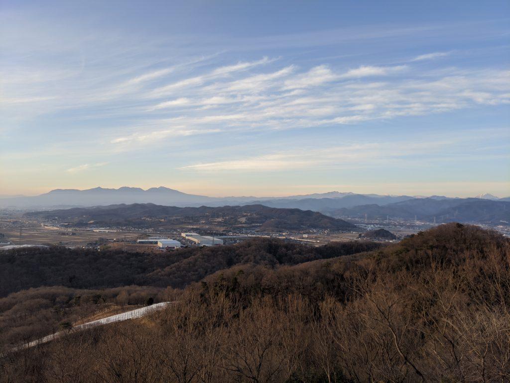 Mount Akagi from the top of Mount Chausu in Kiryu City.