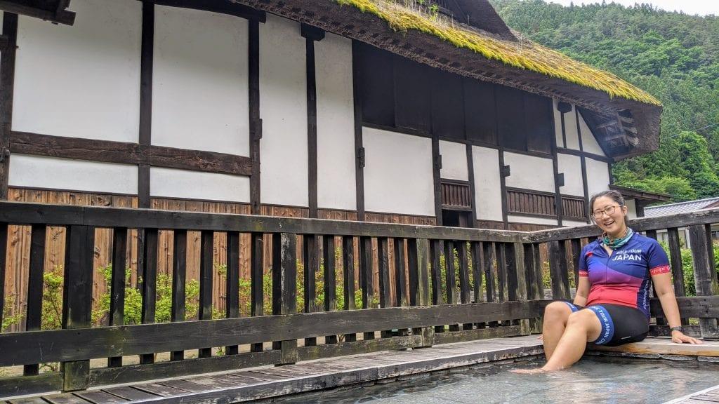 Nango Onsen Foot Bath on Mount Akagi.