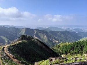 The foothills of Ashikaga from Senningatake.