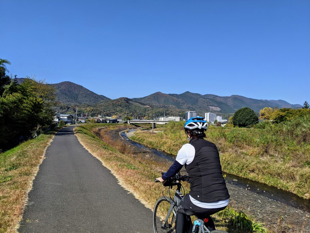 Best views in town with no cars in sight! Along the Kiryu River Path.