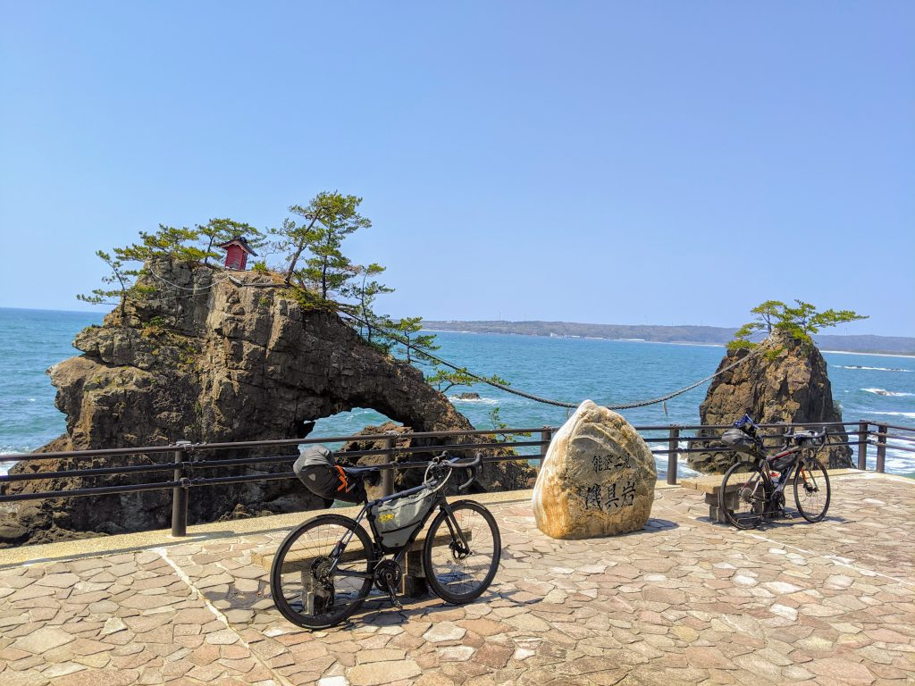The Hatago Married Rocks along the west coast of the Noto Peninsula.