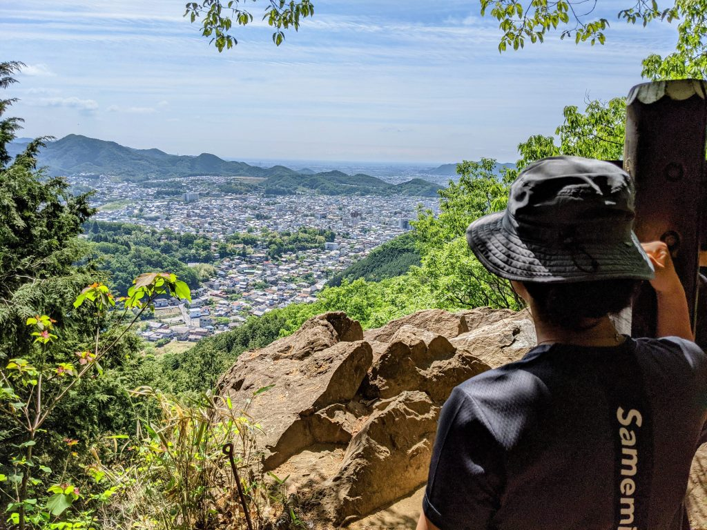 The view of Kiryu and the Kanto Plains below from atop Mt Azuma.