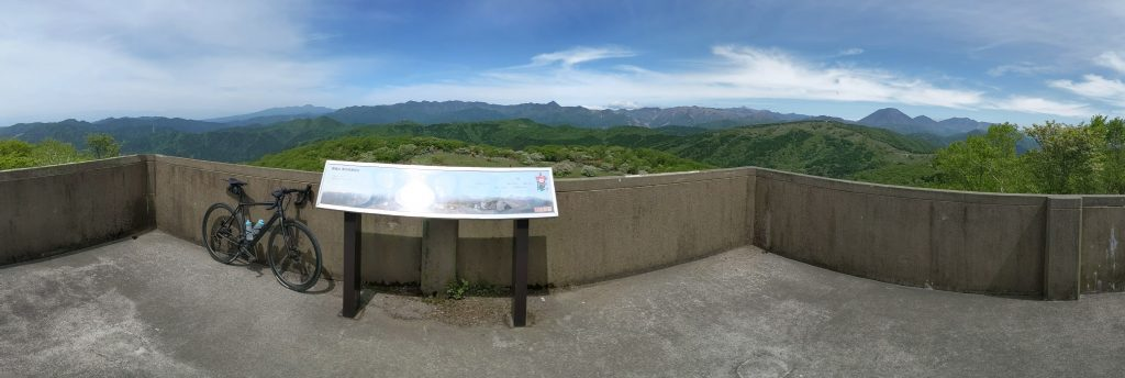 Panoramic views from the Zonohana Observation Deck atop the Mae-Nikko Highlands.