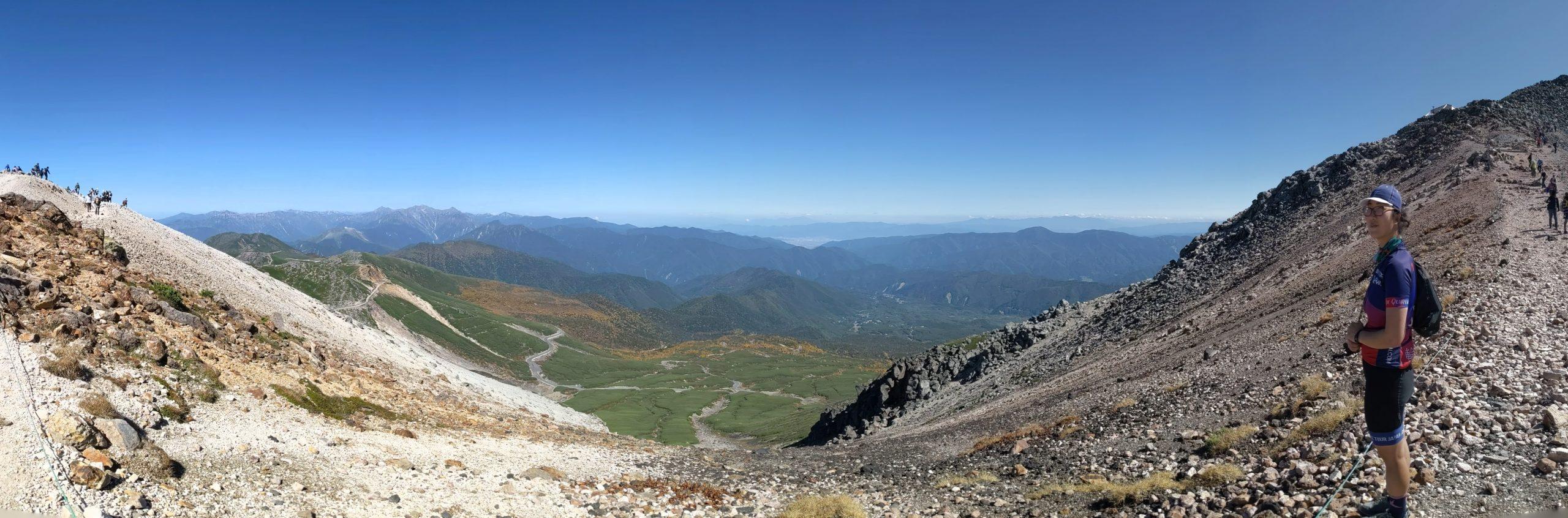 Viewpoints on Norikura-dake trail