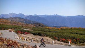 Cycling on Norikuradake