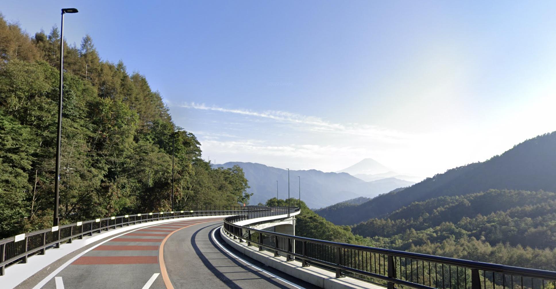 Mount Fuji from the Yanagisawa Pass.