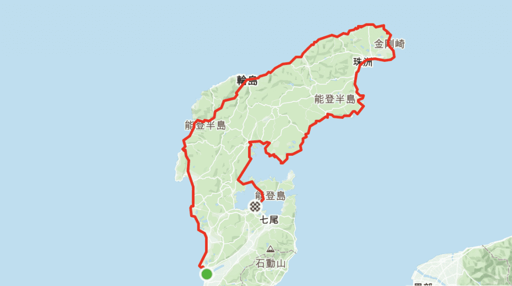 Noto Peninsula Shorter Route   Kanazawa -> Wakura Onsen