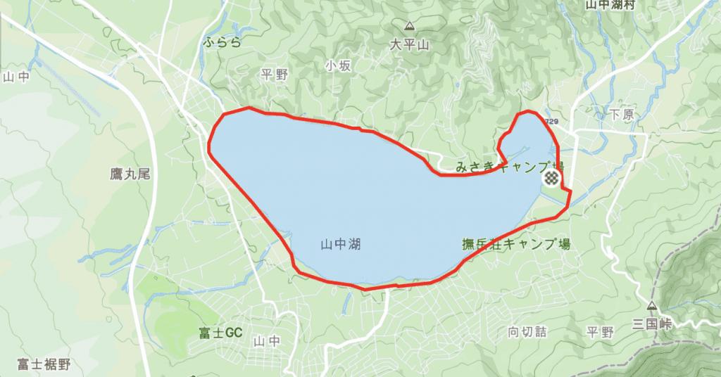 Cycling Route Around Lake Yamanakako Cycling Road at Mt Fuji Complete Lap.