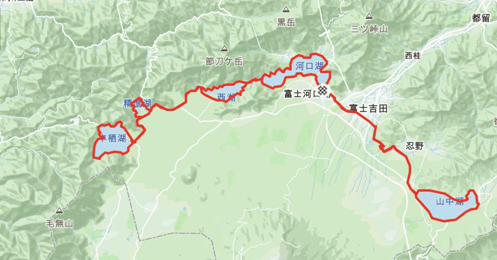 Cycling All 5 Fuji Sacred Lakes Route.