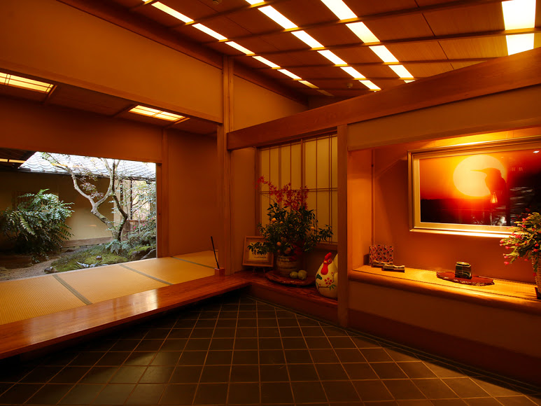 The entrance way to a ryokan on the Valleys and Volcanoes Tour.