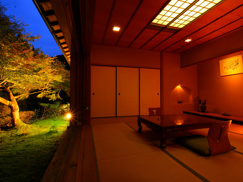 The beautiful nature focused room on the Nikko North Alps Tour and Valleys and Volcanoes Tour.