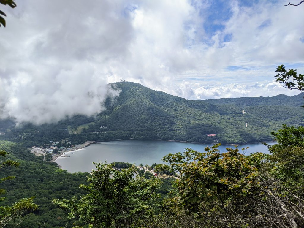 Mount Akagi's caldera lake Onuma.